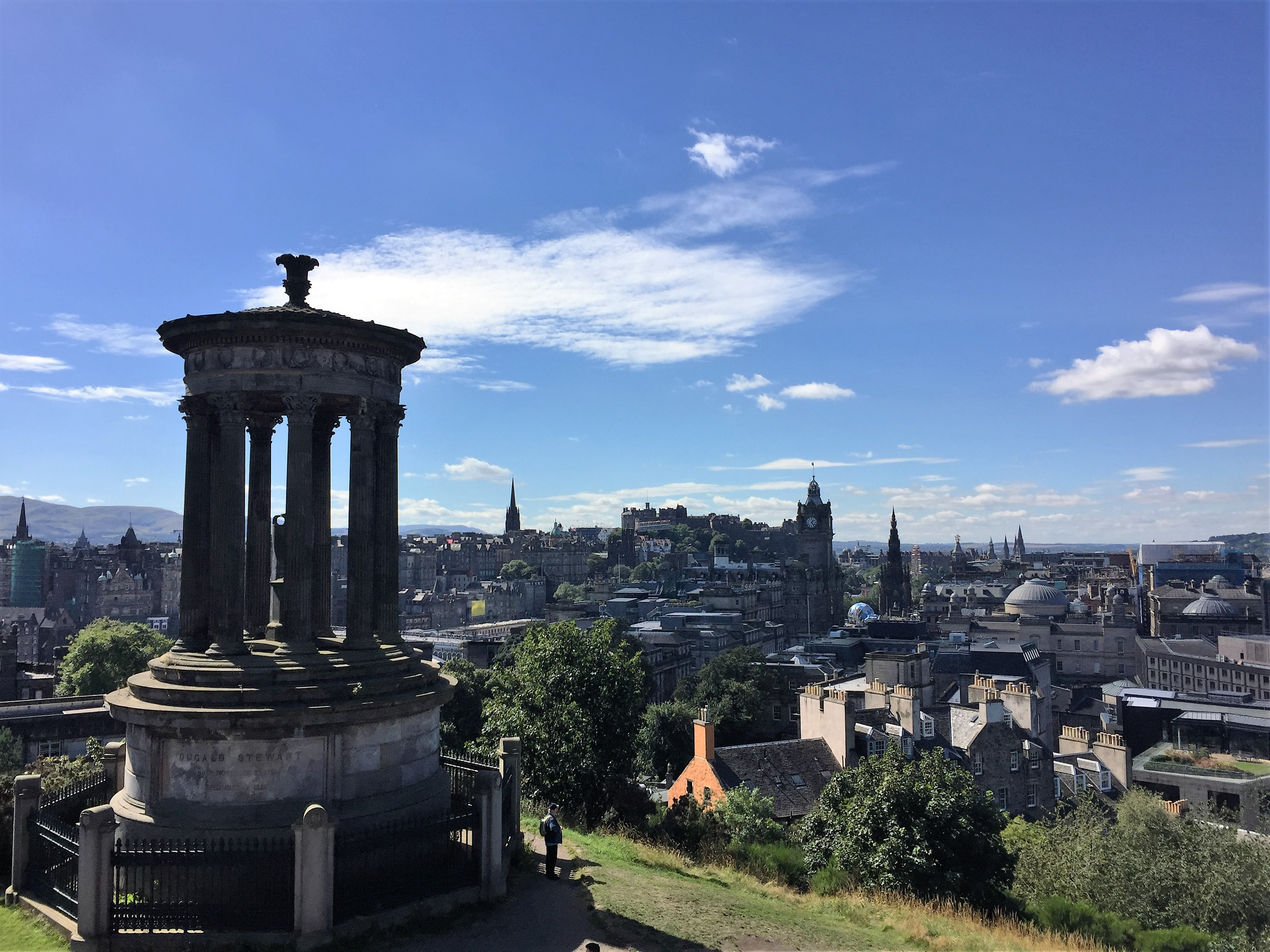 The view from Calton Hill.