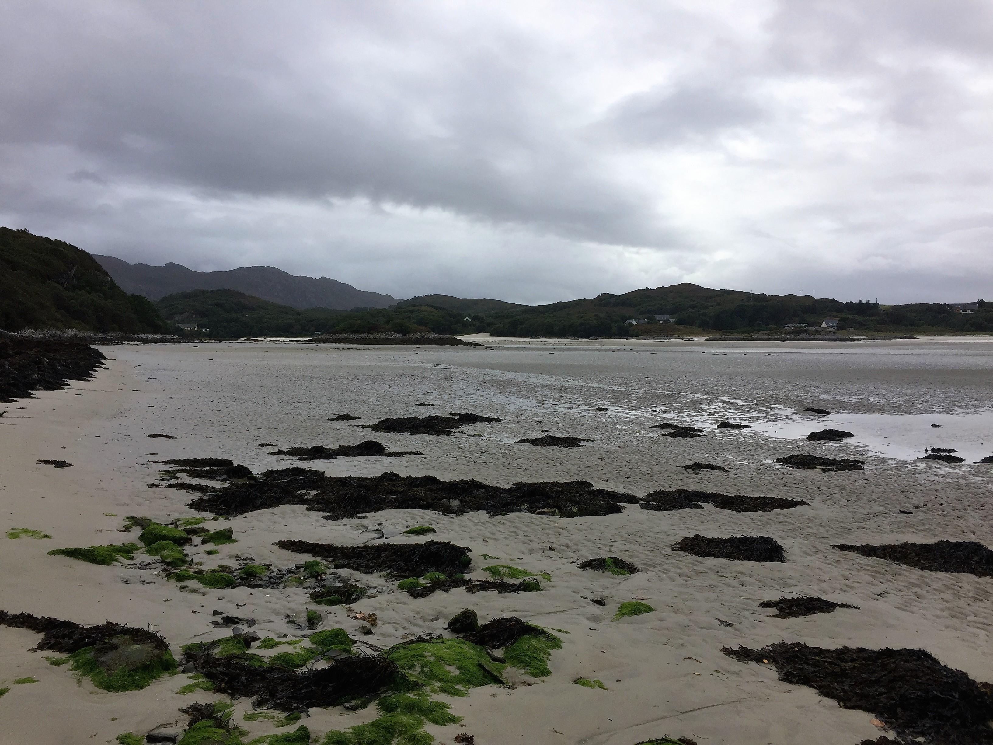 The beach by Morar in low tide.