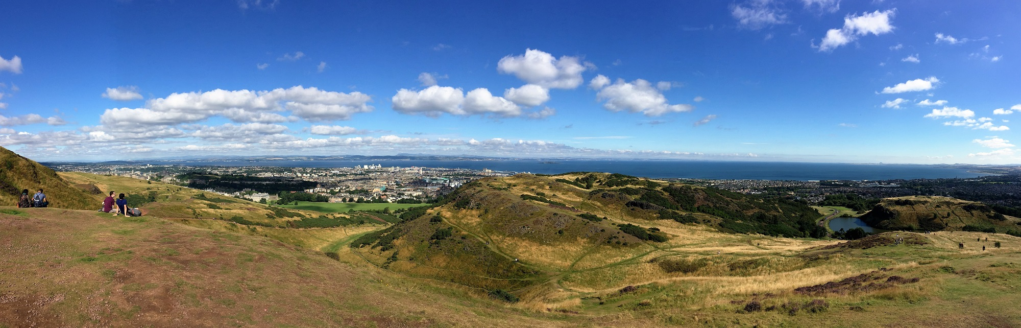 The view from Holyrood Park.